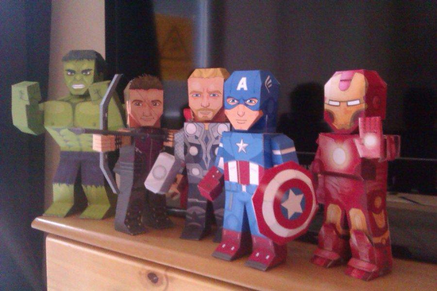 my paper heroes marvel s avengers