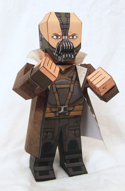 Dark Knight Rises Bane Paper Model