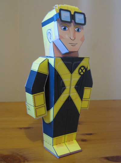 Papercraft imprimible de Cannonball. Manualidades a Raudales.