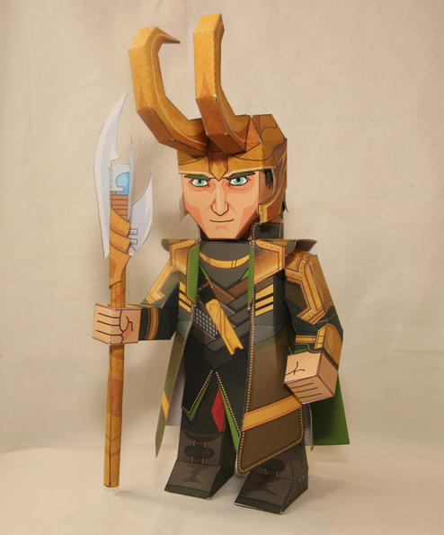 The Avengers Loki Papercraft