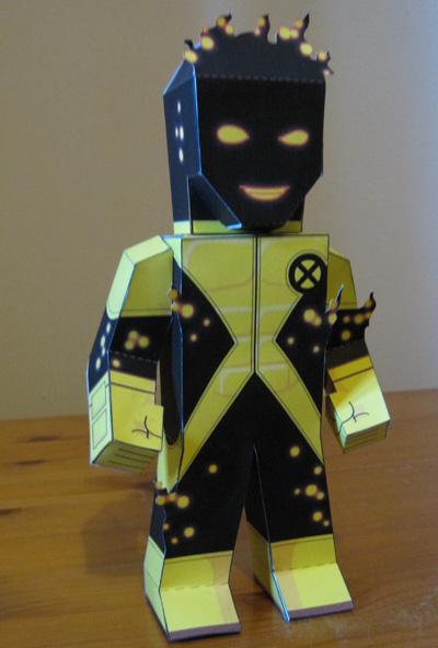 Papercraft imprimible de Sunspot. Manualidades a Raudales.